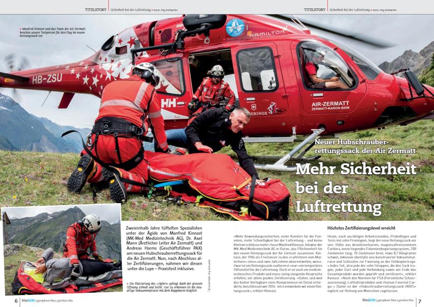 Rettungssack der Air Zermatt